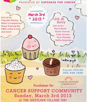 Flyer for Cupcake Camp Conejo Event on March 3