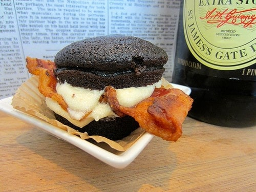 Maple cream cheese plus bacon plus Guinness Stout and chocolate makes ...