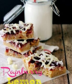 Lemon Raspberry Shortbread Magic Bars