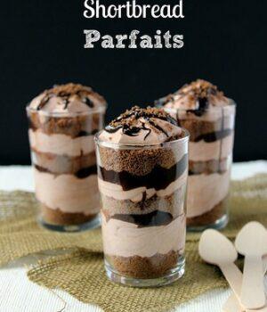 No-Bake Chocolate Shortbread Mousse Parfaits
