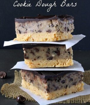 Espresso Chip Cookie Dough Bars