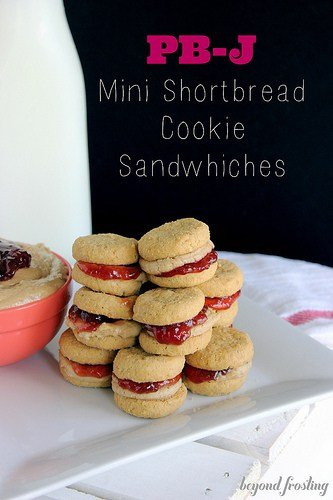 Peanut Butter & Jelly Mini Shortbread Cookie Sandwiches ...