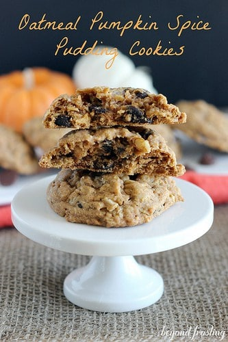 Oatmeal Pumpkin Spice Pudding Cookies | beyondfrosting.com | #pumpkin #cookies #puddingcookies