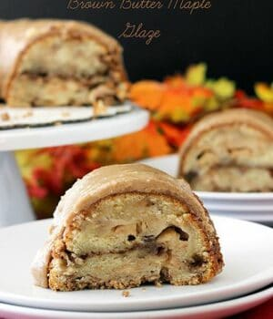 Apple Pie Coffee Cake with Brown Butter Maple Glaze