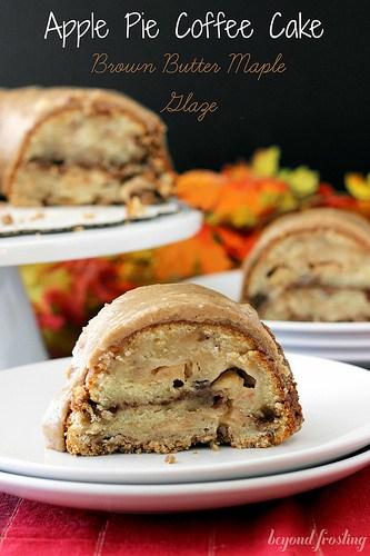 Apple Pie Coffee Cake   beyondfrosting.com   #coffeecake #applepie