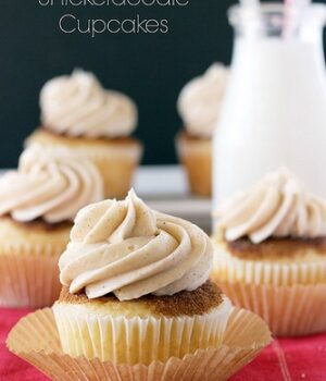Coffee Cake Snickerdoodle Cupcakes