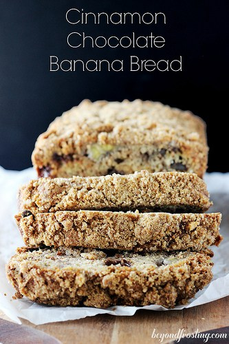 Cinnamon Chocolate Banana Bread | beyondfrosting.com | #bananabread