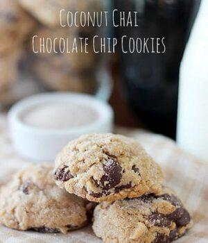 Coconut Chai Chocolate Chip Cookies
