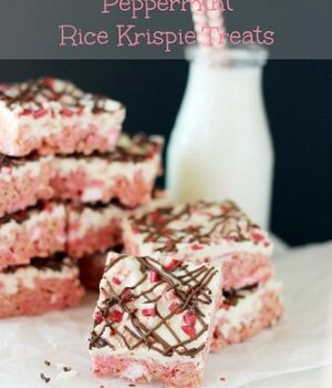White Chocolate Peppermint Rice Krispie Treats