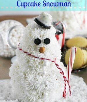 DIY Cupcake Snowman
