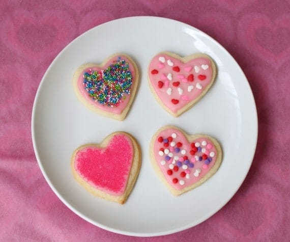 B38- sugar cookie hearts