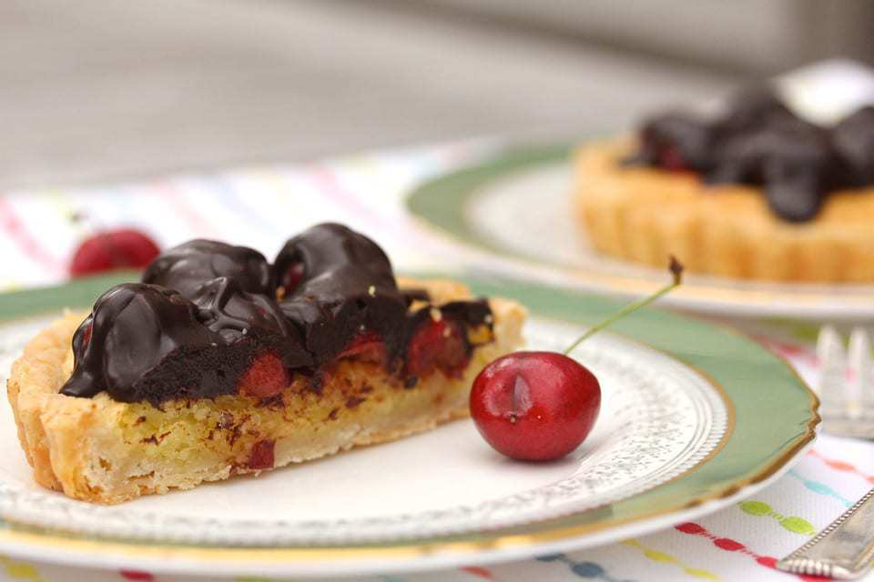 P9- CHOC COVERED CHERRY ALMOND TART