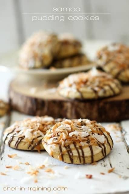 chef in trainging_samoa pudding cookies