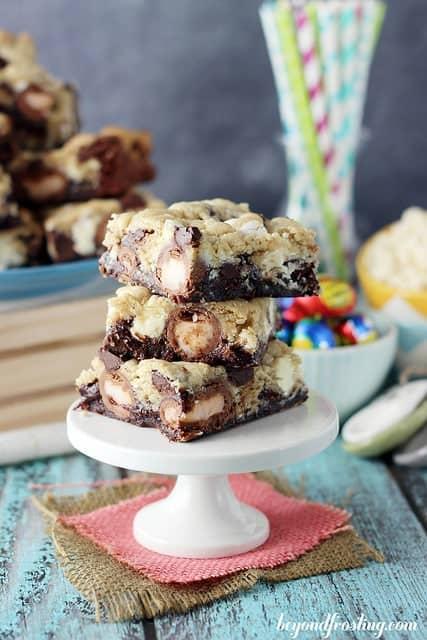 Cadbury Stuffed Brookies   beyondfrosting.com   #cadbury #brownie #cookies