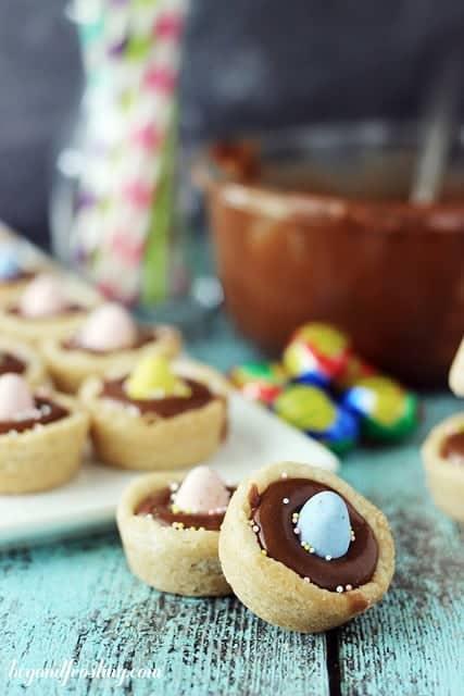 Cadbury Ganache Cookie Cups | beyondfrosting.com | #cadbury #easter