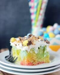 Lemon Coconut Easter Poke Cake