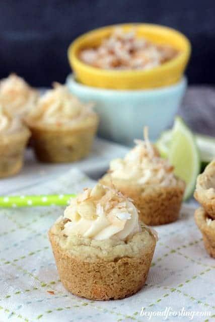 Key Lime Cheesecake Cookies | beyondfrosting.com | #keylime