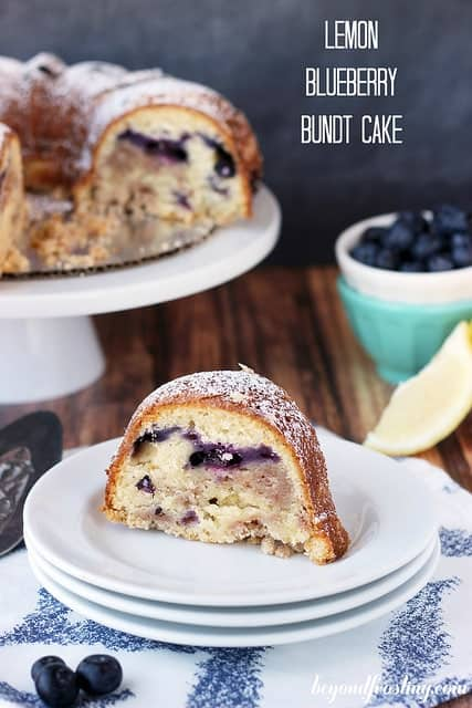 Lemon Blueberry Bundt Cake | beyondfrosting.com | #brunch