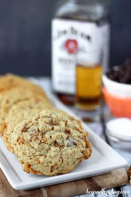 Bourbon Salted Caramel Oatmeal Chocolate Chip Cookie.