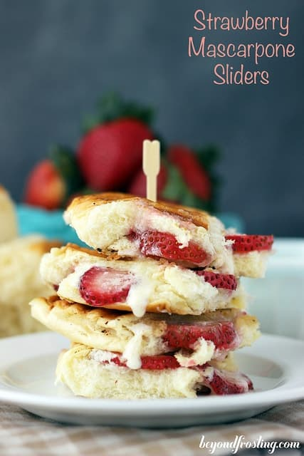 Stack of Strawberry Mascarpone Desserts