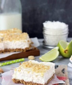 No Bake Coconut Lime Cheesecake Bars