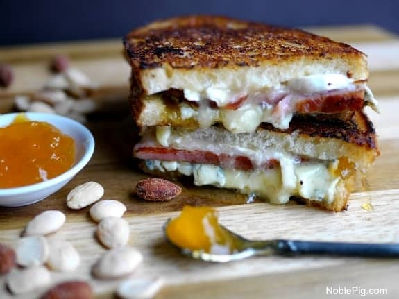 Melty-Ham-Brie-and-Peach-Grilled-Cheese-from-Noble-Pig.