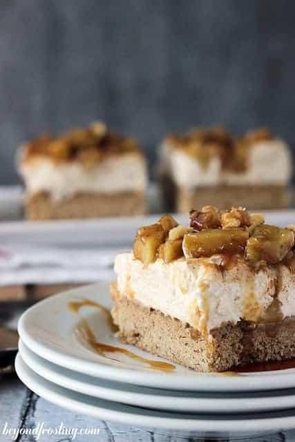 Maple Apple Pie Cheesecake BArs