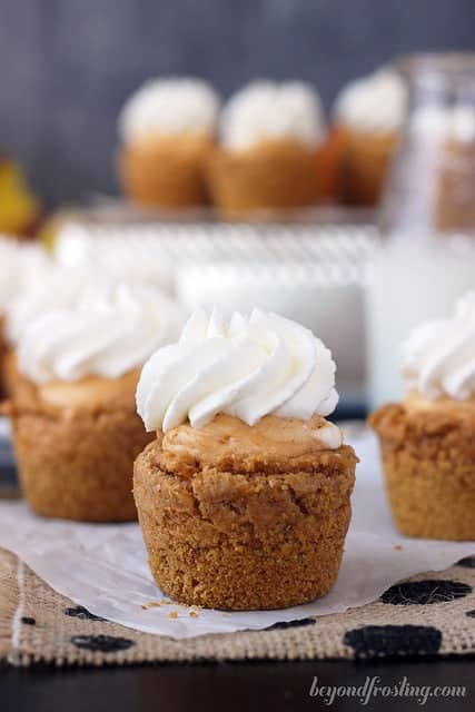 Pumpkin Cream Pie Cookie Cups