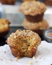 Pumpkin Muffins with Brown Sugar Streusel