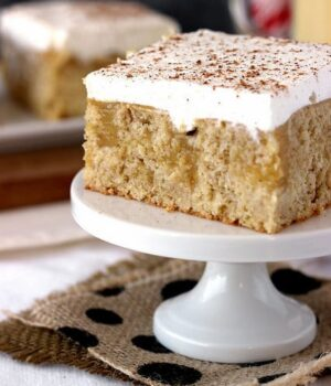 Ultimate Eggnog Poke Cake