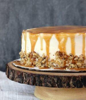 Sweet Potato Cake with Bourbon Caramel Cream Cheese Frosting