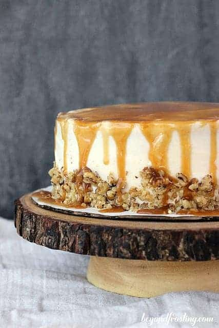 Sweet Potato Cake With Bourbon Caramel Cream Cheese