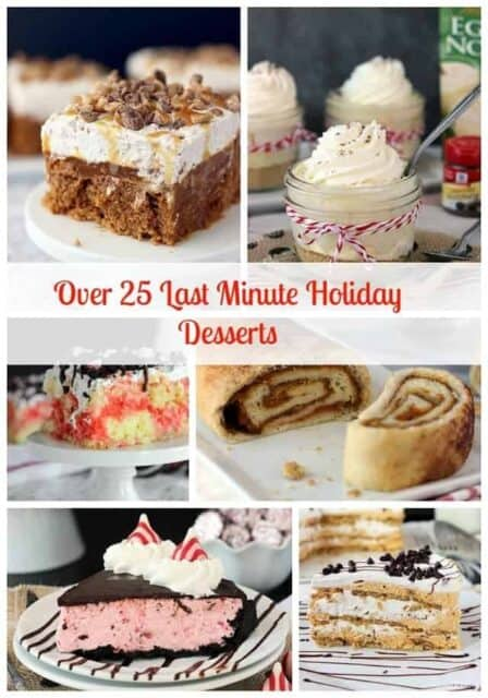 holiday dessert collage