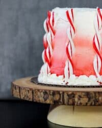 Candy cane layer cake