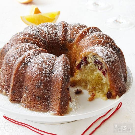 Apple Dried Cranberry Cake