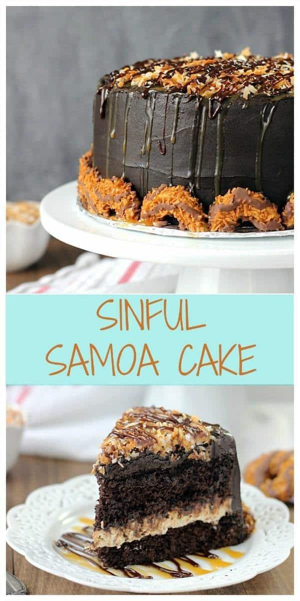 Sinful Samoa Cake