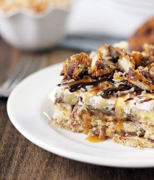 Samoa Icebox Cake