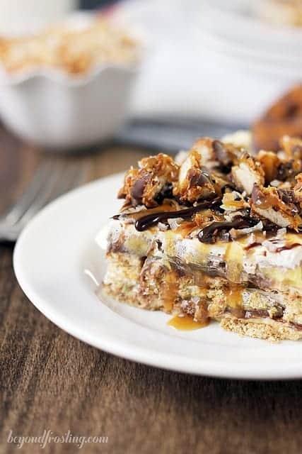 Samoa Icebox Cake | beyondfrosting.com