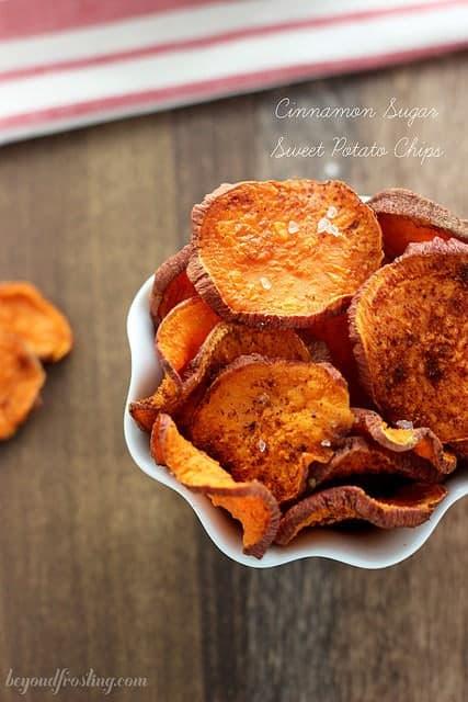 Cinnamon Sugar Sweet Potato Fries | beyondfrosting.com