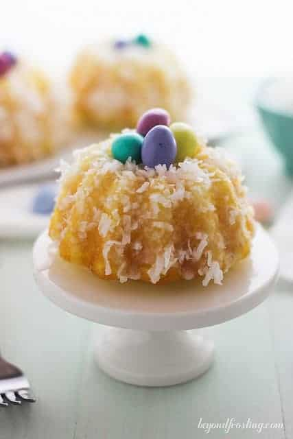 Festive Easter Lemon Coconut Bundt Cakes