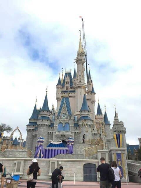 A picture of Disney castle.