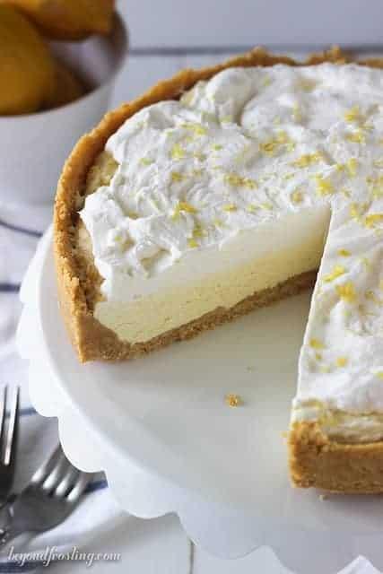 Glorious Lemon Mousse Ice Cream Pie. Refreshing and full of lemon flavor!