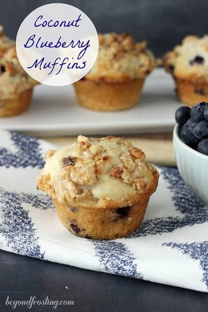 Coconut Blueberry Muffins | beyondfrosting.com | #blueberry muffins #muffinmadness
