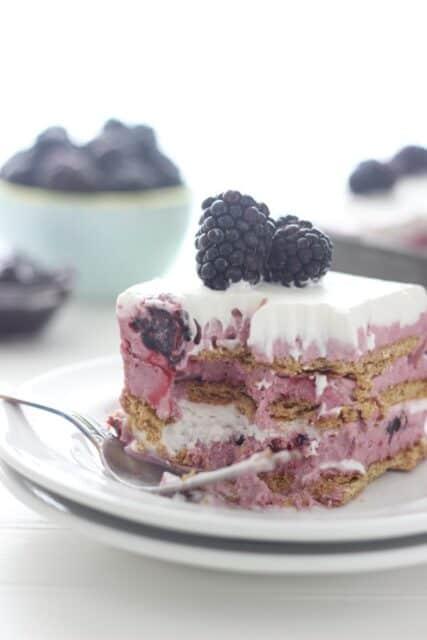 Fresh Black Raspberry Ice Cream Cake