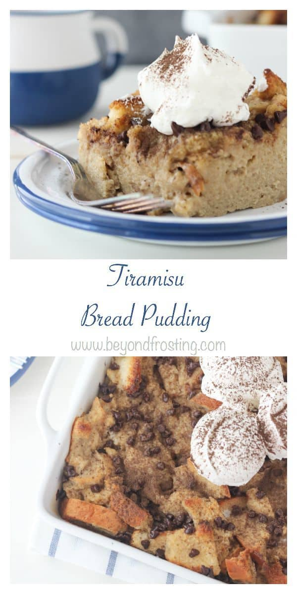 This Tiramisu Bread Pudding is baked with classic tiramisu flavors like strong espresso, coffee liquor and mascarpone mousse.