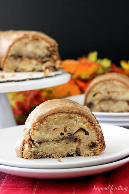 Apple Pie Coffee Cake with a Brown Butter Maple Glaze