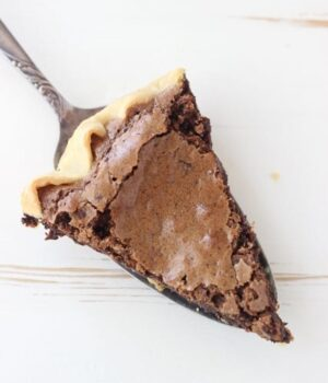 Espresso Brownie Pie