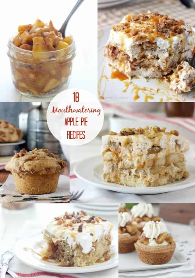 Over 18 drool worthy apple pie inspired recipes plus a quick and easy stovetop apple pie filling!