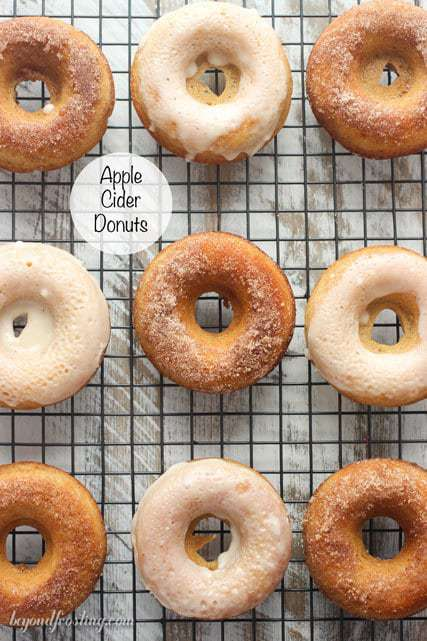 These Apple Cider Donuts are baked to perfection and covered with either cinnamon sugar or a cider glaze. Best of all, this recipe can be halved to make only 6 donuts!
