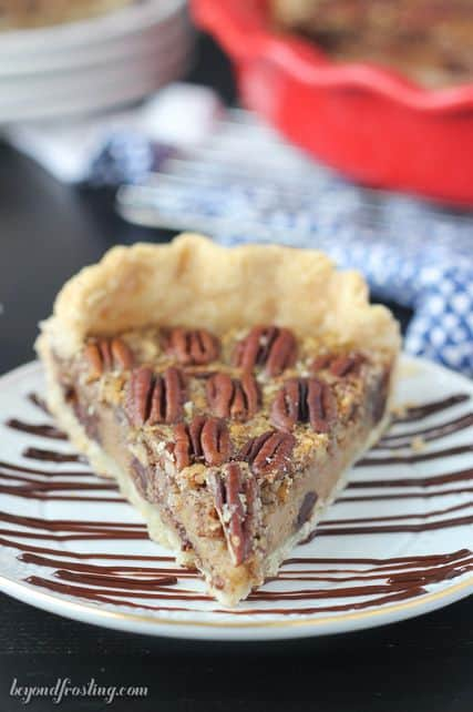 Grab a fork and dig into this Kahlua Chocolate Pecan Pie.